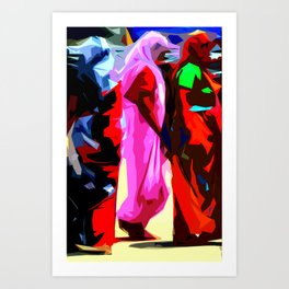 Three Graces I - India Art Print