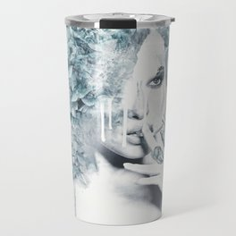 Portrait of a girl with vices Travel Mug