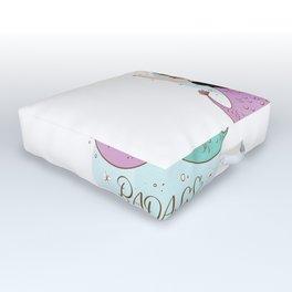 Badass unicorn Outdoor Floor Cushion