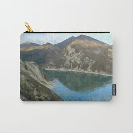 Lake in the mountains in polygon technique Carry-All Pouch
