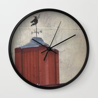 witch Wall Clocks featuring Witch by Elina Cate