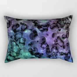 Inside Out Coral Abstract Rectangular Pillow
