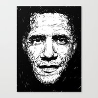 obama Canvas Prints featuring Obama by Smyf