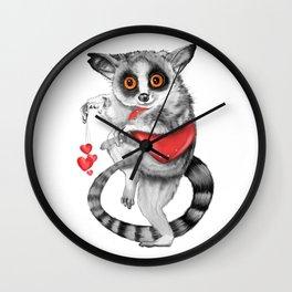 Lemur Thief of Hearts Wall Clock