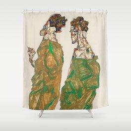 "Egon Schiele ""Devotion"" Shower Curtain"