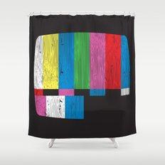 Test Pattern Shower Curtain
