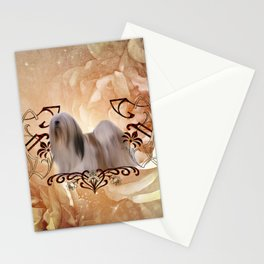 Beautiful lhasa apso , cute dog Stationery Cards