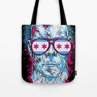 michael myers Tote Bags featuring Michael Myers by Steven Luros Holliday