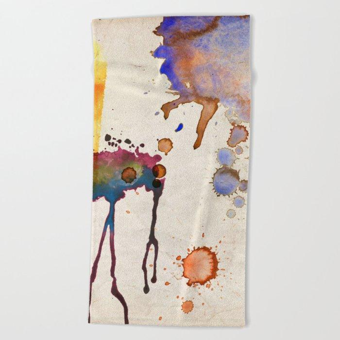 Multicolor Splash Beach Towel