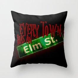 Every Town Elm Street Throw Pillow