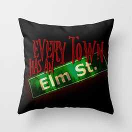 Every Town Elm Street Throw Pillow