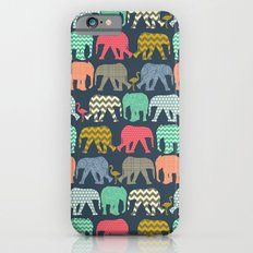 baby elephants and flamingos Slim Case iPhone 6