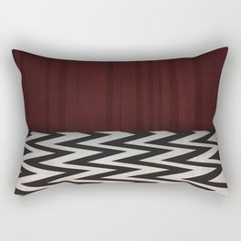 Black Lodge / Red Room Twin Peaks Rectangular Pillow