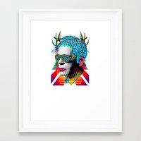 karl Framed Art Prints featuring karl by DIVIDUS