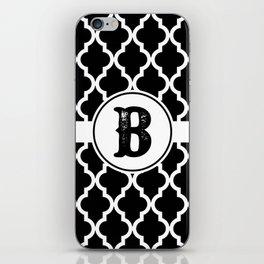 Black Monogram: Letter B iPhone Skin