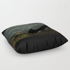 Three women in a field Floor Pillow