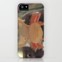 Albino Axolotl iPhone Case