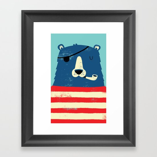 One Eyed Pete Framed Art Print