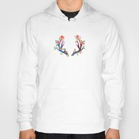 antler Hoodies featuring Roses and Antler by Better HOME