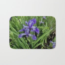 Wild Purple Iris Bath Mat