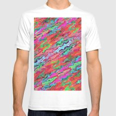 Tulip Trails 4 A White MEDIUM Mens Fitted Tee