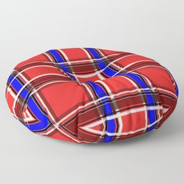 Red blue plaid Floor Pillow