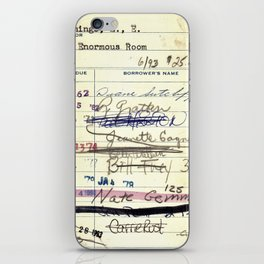 Library Card 828 The Enormous Room iPhone Skin
