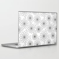 arya stark Laptop & iPad Skins featuring Stark Flowers by SonyaDeHart