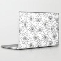 house stark Laptop & iPad Skins featuring Stark Flowers by SonyaDeHart