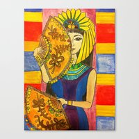 egyptian Canvas Prints featuring Egyptian by DaeChristine
