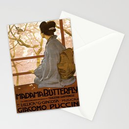 Vintage poster - Madama Butterfly Stationery Cards