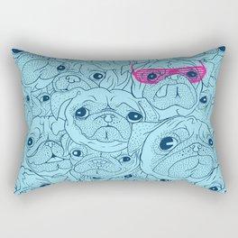 Pug jumble Rectangular Pillow