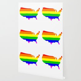 United States Gay Pride Flag Wallpaper