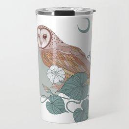 Pink Barn Owl Travel Mug