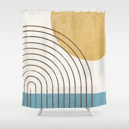 Sunny ocean Shower Curtain