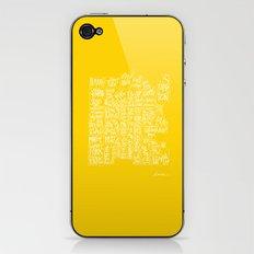denver neighborhood print [hand drawn] iPhone & iPod Skin