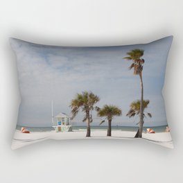 Clearwater Beach In Wintertime Rectangular Pillow