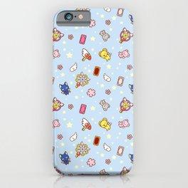 cardcaptor cute pattern blue iPhone Case
