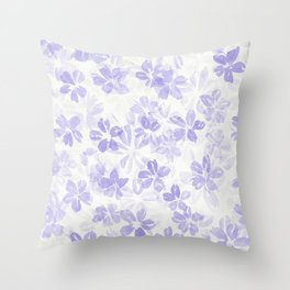 Purple Haze of Flowers Throw Pillow