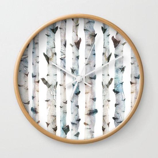 Birch Tree Wall Clock