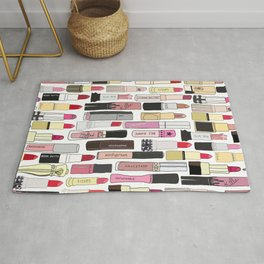 Lipsticks Makeup Collection Illustration Rug