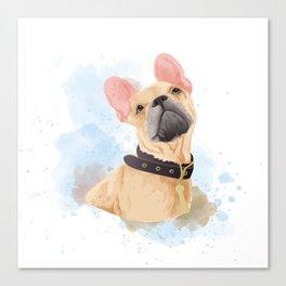 Cutie frenchie Canvas Print