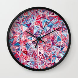 Colorful Low Poly Design Wall Clock
