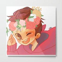 Flower crown boy Metal Print