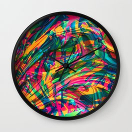 Wild Abstract Wall Clock