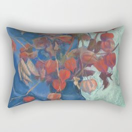 Still life with winter cherry Rectangular Pillow