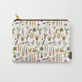 watercolor koala bears hanging out in their cactus succi garden Carry-All Pouch