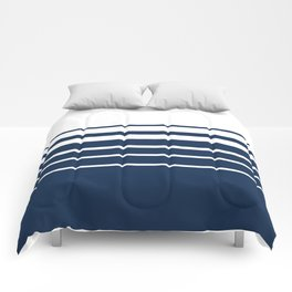 White blue striped pattern . Comforters