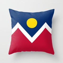 Denver City Flag Throw Pillow