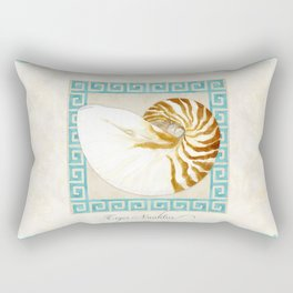 Tiger Nautilus Exterior Modern Ocean Shell Beach Striped Rectangular Pillow